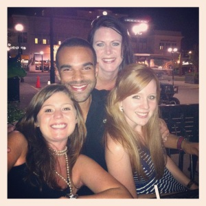 My cousins and I at Fox and Hound. A night with the family in Raleigh.