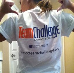 ccfa crohn's colitis foundation team challenge half-marathon t-shirt
