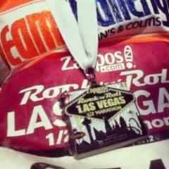 stephanie hughes rock'n'roll las vegas half marathon 13.1 finishers medal stolen colon ostomy blog crohns ccfa team challenge