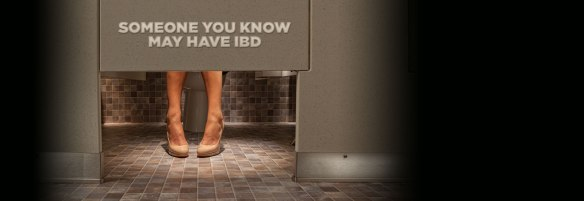 CCFA escape the stall ad campaign stolen colon crohns ibd ostomy blog