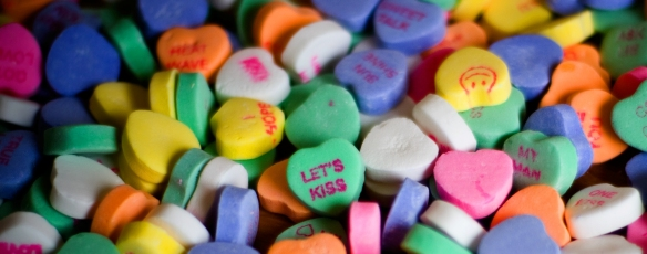 February Candy hearts valentine's stephanie hughes stolen colon ostomy crohn's blog